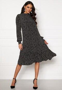 VILA Tillan L/S Dress Black, AOP Cloud Dan Bubbleroom.se