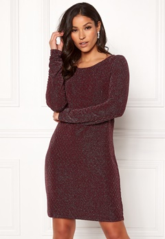 VILA Tinny Luosquare New Dress Winetasting Bubbleroom.se