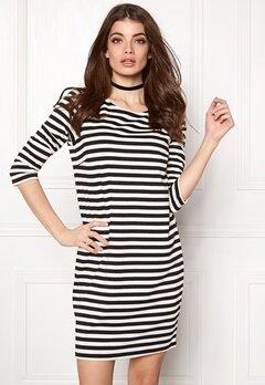 VILA Tinny New Dress white/black stripe Bubbleroom.fi