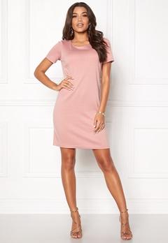 VILA Tinny New s/s Dress Pale Mauve Bubbleroom.no