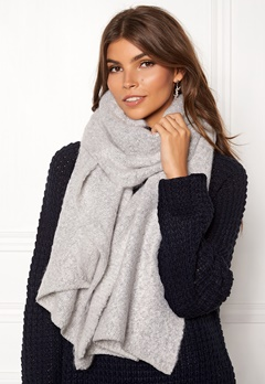 VILA Tobi Knit Scarf Light Grey Melange Bubbleroom.se