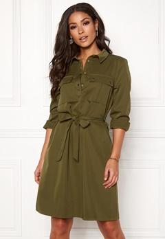 VILA Trooper L/S Dress Dark Olive Bubbleroom.se
