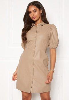 VILA Tura 2/4 Dress Soft Camel Bubbleroom.se