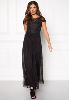 VILA Ulricana s/s maxi dress Black Bubbleroom.fi