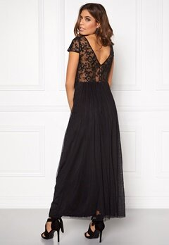 VILA Ulricana s/s maxi dress Black Bubbleroom.se
