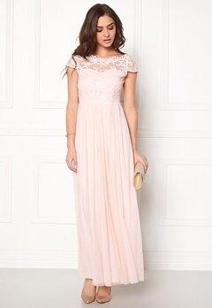 VILA Ulricana s/s Maxi Dress Silver Peony Bubbleroom.se