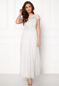VILA Ulricana s/s Maxi dress Snow White Bubbleroom.fi