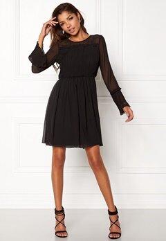 VILA Vesper L/S Dress Black Bubbleroom.fi