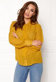VILA Viaddie Bow Shirt Nugget Gold Bubbleroom.no