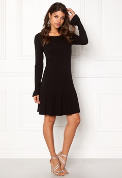 VILA Vicka L/S Knit Dress Black Bubbleroom.fi