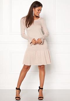 VILA Vicka L/S Knit Dress Peach Whip Bubbleroom.no
