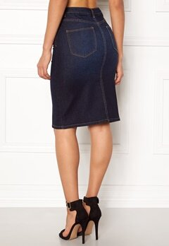 VILA Vicutit Denim Skirt Medium Blue Denim Bubbleroom.dk
