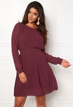 VILA Vimillie Dress Fig Bubbleroom.fi