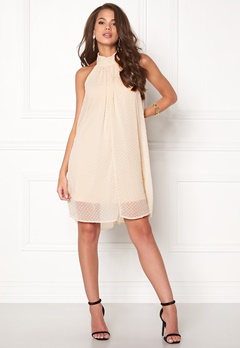 VILA Vishe halterneck dress Shifting Sand Bubbleroom.fi