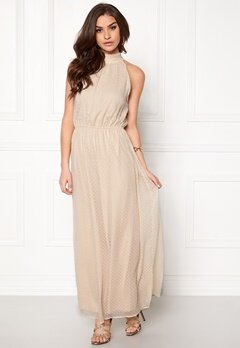 VILA Vishe maxi dress Shifting Sand Bubbleroom.se