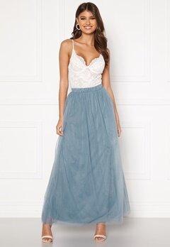 VILA Zamara Hw Maxi Skirt/DC Ashley Blue Bubbleroom.se