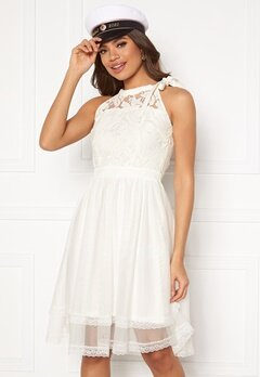 VILA Zinna New S/L Dress Snow White Bubbleroom.se