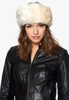 Pieces Villac fake fur headband Whitecap gray Bubbleroom.se