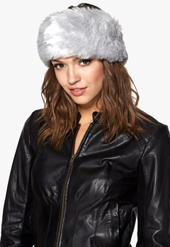 Pieces Villac fake fur headband Lunar Rock Bubbleroom.se