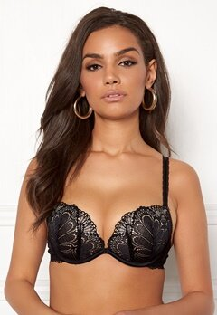 Wonderbra Glamour Full Effect Bra Black Bubbleroom.se