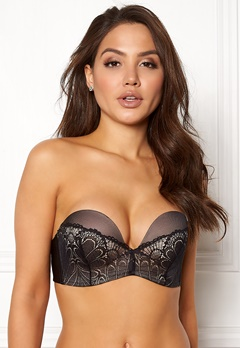Wonderbra Glamour Perfect Strapless Bra Black Bubbleroom.se