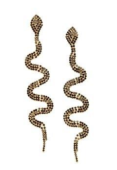 WOS Anaconda Earrings Svart Bubbleroom.se