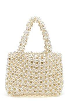 WOS Britney Pearl Bag Vit Bubbleroom.se