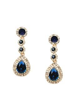 WOS Queen Bling Earrings Blå Bubbleroom.se