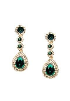 WOS Queen Bling Earrings Grön Bubbleroom.se