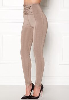 WOW COUTURE Adora Bandage Pants Almond Bubbleroom.eu