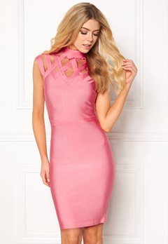 WOW COUTURE Caged Cap Sleeve Shaping Salmon Bubbleroom.se
