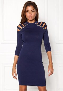 WOW COUTURE Dillon Sweater Dress Navy Bubbleroom.se