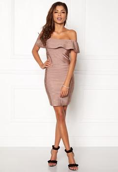 WOW COUTURE Sonnet Bandage Mini Dress Almond Bubbleroom.no