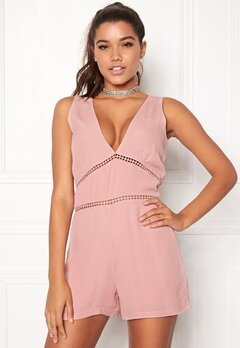 WYLDR Cascade Playsuit Dusty Rose Bubbleroom.fi