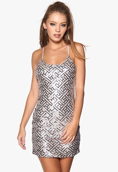 WYLDR Pixie Dress Silver Sequin Bubbleroom.fi