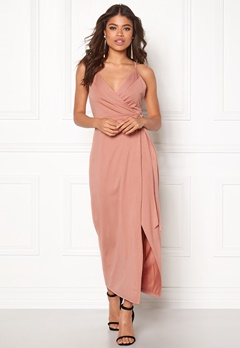 WYLDR Wrap Over Me Dress Dusty rose Bubbleroom.se