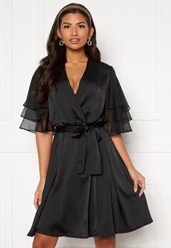 Y.A.S Abigail SS Midi Dress Black Bubbleroom.se