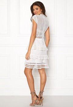 Y.A.S Alberte Capsleeve Lace Dress Star White Bubbleroom.se