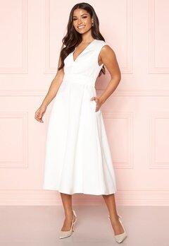 Y.A.S Alice SL Midi Dress Star White Bubbleroom.se