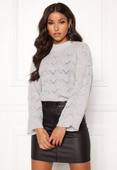 Y.A.S Alma Knit Pullover Light Grey Melange Bubbleroom.se