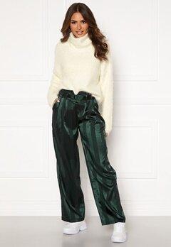 Y.A.S Audrey Wide Pants Green Gambles Bubbleroom.se