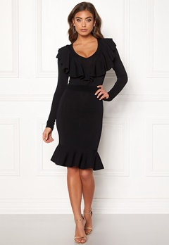 Y.A.S Aya LS Knit Dress Black Bubbleroom.se