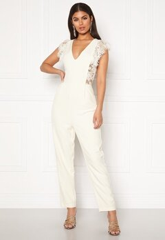 Y.A.S Beatrice SL Ankle Jumpsuit Star White Bubbleroom.se