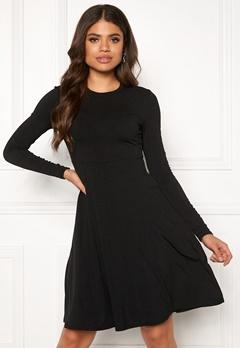 Y.A.S Blax LS Flared Dress Black Bubbleroom.se