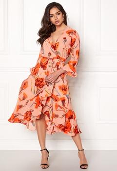 Y.A.S Cacco Wrap Dress Rose Smoke Bubbleroom.se