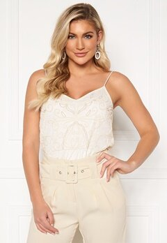 Y.A.S Charlene Strap Top Star White Bubbleroom.se
