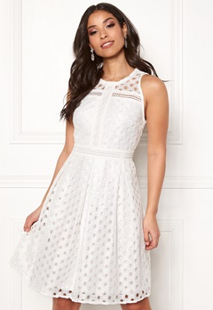 Y.A.S Circle S/L Dress Star White Bubbleroom.se