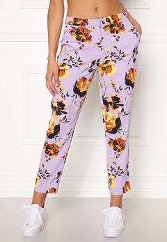Y.A.S Clara MW Cropped Pant Pastel Lilac Bubbleroom.se