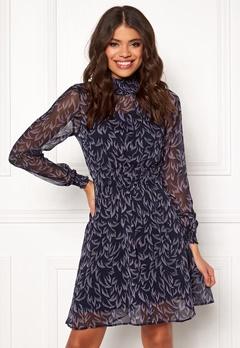 Y.A.S Coralla LS Dress Dark Sapphire Bubbleroom.se