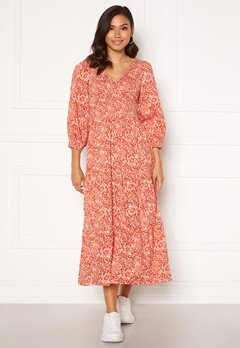Y.A.S Damask 3/4 Long Dress Wisper Pink, AOP Bubbleroom.se